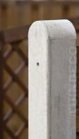 betonpaal ronde kop grijs