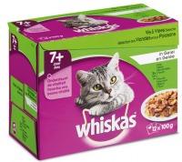 Whiskas multipack maaltijdzakjes 7+ vis en vlees in gelei