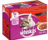 Whiskas multipack Maaltijdzakjes Vlees met Groenten in Saus
