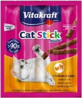 Vitakraft Cat stick mini Kalkoen & Lam 3 stuks