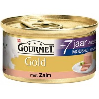 Gourmet Gold Mousse Senior 7+ met Zalm 85 gram