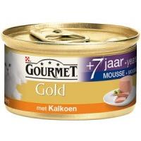 Gourmet Gold Mousse Senior 7+ met Kalkoen 85 gram