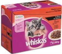 Whiskas multipack maaltijdzakjes Junior vlees in saus