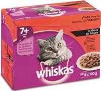 Whiskas multipack maaltijdzakjes 7+ vlees in Saus