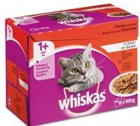 Whiskas multipack maaltijdzakjes vlees in gelei