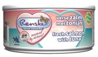 Renske Kat vers vlees Tonijn & Zalm Fiber 70 gram