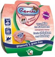 Renske Kat vers vlees Kip & Kalkoen mouse 100 gram